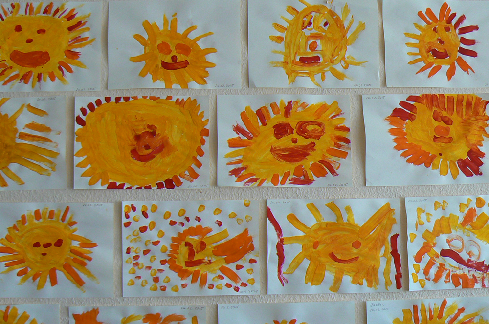 Tigergruppe-Sonnenbilder